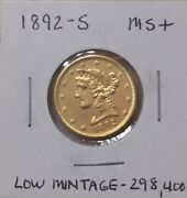 1892-s🇺🇸5.00 Gold Liberty Head Coin Ms