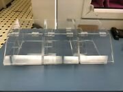 Candy Snack Food Dispenser Clear Acrylic Bins Countertop Self Service Tumbler