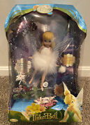 """New In Box Disney Fairies Arrival Tink Tinkerbell Porcelain 12"""" Doll Htf Rare"""