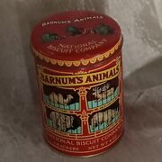 Animal Crackers Tin Barnumand039s National Biscuit Company 1979 Metal Tin Retired