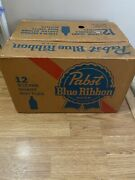 Vintage 1970andrsquos Pabst Blue Ribbon Beer Pbr Crate Box Carton Case 12 - 32oz