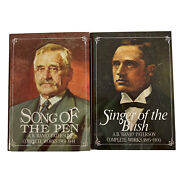 Books 'banjo' Paterson Singer Of The Bush 1885-1900, Song Of The Pen 1901-1941