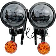 Rivco Products Black 4.5in. Led Auxiliary Lights With Turn Signals Mv195