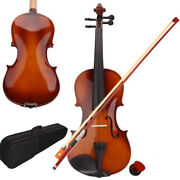 Gift For Violin Lovers 4/4 Natural Color Acoustic Violin Bow Rosin With Case Us