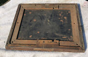 Antique Brass National Cash Register Solid Oak Wood Base 1000 Class Ncr Early