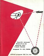 1956 Scca Seafair Sports Car Road Races Program Masten Gregory Pete Lovely