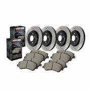 Stoptech For Gmc Yukon Xl 1500 2008-2020 Front And Rear Brake Rotors And Brake Pads