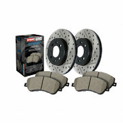 Stoptech For Bmw 335i Xdrive 2007 2008 Axle Pack Front Rotors + Pads Package