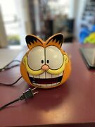 Vintage Garfield Head Digital Alarm Clock 887-99 Electric Sunbeam 1991 Tested
