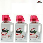 Roundup Weed And Grass Killer Concentrate Plus 64 Oz 3 Pack