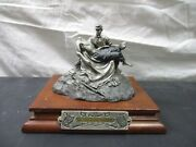 Chilmark Pewter Signed Francis J Barnum Sculpture Of Brother Against Brother