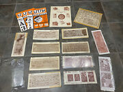 Large Lot Of Vintage Craftaid Leather Templates Horse Floral Ect.
