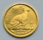 1992 Isle Of Man Proof 1/10 Crown .999 Gold Siamese Cat Coin Coin