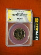 2000 D 1 Sacagawea Dollar Anacs Ms69 Pl From Millennium Coin And Currency Set