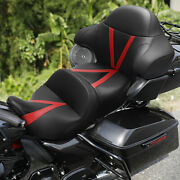 Pu Leather Rider Passenger Seat And Backrest Fit For Harley Road Glide Fltrx 14-21