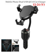 12-24v Cell Phone Dual Usb Qc3.0 Car Charger Multifunction Bluetooth Charger