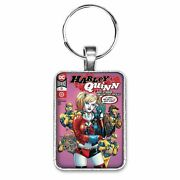 Harley Quinn 72 Cover Key Ring Or Necklace Booster Gold Comic Book Jewelry