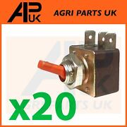 20x Red Hazard Warning Light Switch Toggle For Case Ih Ford John Deere Tractor