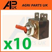 10x Red Hazard Warning Light Switch Toggle For Case Ih Ford John Deere Tractor
