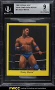 1998 Cardinal Wwf Trivia Game Cards Series 1 Rocky Maivia 21 Bgs 9 Mint