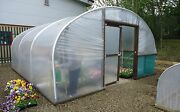 16ft Wide Polytunnel Greenhouse - 50mm Steel Hoops Strong Commercial Poly Tunnel