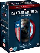 Captain America 3-movie Collection 3d [blu-ray]