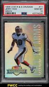 1998 Leaf R And S Crusade Green Jerry Rice /250 11 Psa 10 Gem Mint