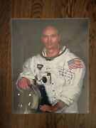 Signed Michael Collins Oversized 16x20 Autographed Proof Video Apollo11