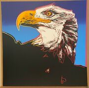Andy Warhol- Bald Eagle - From Endangered Species Suite-1983 -silkscreen Proof