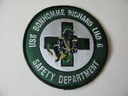 """Uss Bonhomme Richard Lhd 6 Fire Rescue Safety Dept Patch Iron On 4"""" Rare Logo"""