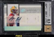 2005 Spx Football Aaron Rodgers Rookie Rc Patch Auto /250 Rookie Rc 223 Bgs 8.5