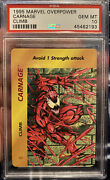 1995 Marvel Overpower Carnage Climb Psa 10 Gem Mint Population 1 Of Only 2