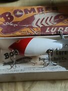 Vintage Bomber Bait Co Wood Lure In Box With Papers Fishing Lure Antique
