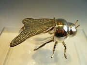 Silver Plated And Glass Honey Bee Pot