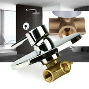 New Wall Mount Shower Tap Control Valve 1 Handle Brass Mixer Faucet Hot And Cold