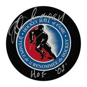 Rod Langway Hockey Hall Of Fame Autographed Hockey Puck