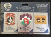 Disney Store 30th Anniversary Limited Release Pin Set Week 1 Ariel Roger New