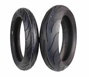 New Michelin Pilot Power 120/70zr17 And 180/55zr17 Radial Motorcycle Tires Set