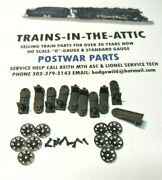 Lionel Brake Stand And Wheel Assembly 10ea 3451-4 For O Gauge Freight Cars