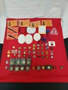Keeneland Race Track Pin Set From 1961 To 1990 With Member Pass And Car Decals
