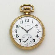 Illinois Bunn Special 16 Size Open Face 49mm Gold Filled Pocket Watch - Ca. 1917