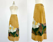 Rare Char Suede Skirt - Floral Patchwork Skirt - Char Santa Fe - Size Small