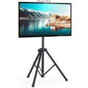 Portable Tv Tripod Stand With 360 Swivel And Tilt Mount For 32-60 Inch Tvs