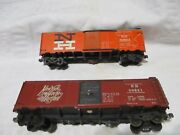 2 Vintage 1950's Varney Metal Freight Cars New York , New Haven And Hartford.rail