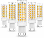 Ziomitus No Flicker Dimmable G9 T4 Led Bulbs 6w Soft Warm White 2700k 5 Pack