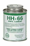 Rh Adhesives Hh-66 Industrial Strength Vinyl Cement Glue With Brush, 8 Oz, Cl...
