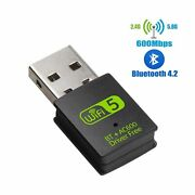 Usb Wifi Bluetooth Adapter, 600mbps Dual Band 2.4/5ghz Wireless Network Exter...