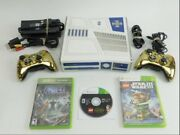 Xbox 360 S Console R2d2 Star Wars Edition 2 Gold Controllers With 3 Games