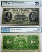 2nd Highest Pmg Grade With Epq . 1914 Bank Of Montreal 10 .cad 5055406