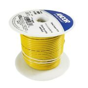 Ancor 103010 Tinned Copper Wire 16 Awg 1mm2 Yellow 100 Ft.